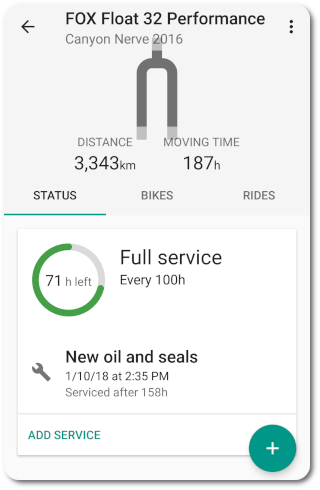Service interval list detail app preview