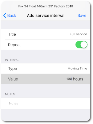 Create new service interval app preview